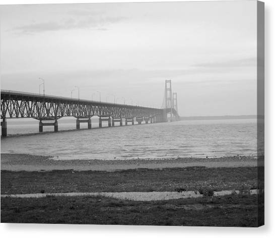 Mackinaw Bridge Canvas Print by Scott Hovind