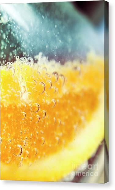 Clubs Canvas Print - Macro Detail On A Club Orange Cocktail by Jorgo Photography - Wall Art Gallery