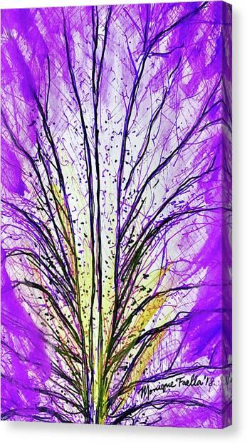 Macro Iris Petal Canvas Print