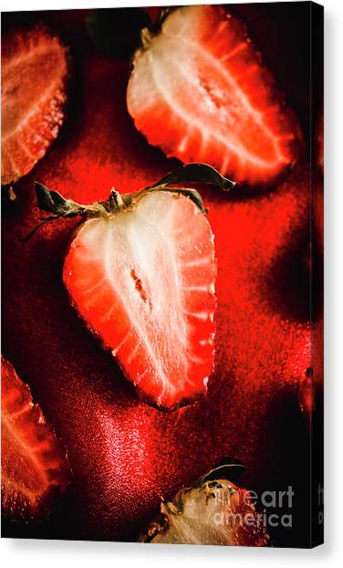 Half Life Canvas Print - Macro Shot Of Ripe Strawberry by Jorgo Photography - Wall Art Gallery