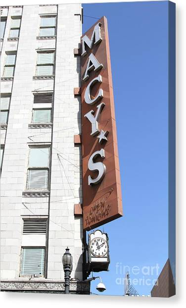 Macys Parade Canvas Print - Macys Department Store In San Francisco California 7d7346 by San Francisco