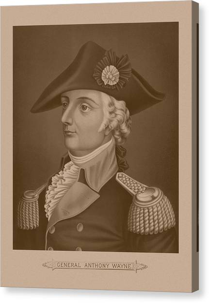 Revolutionary War Canvas Print - Mad Anthony Wayne by War Is Hell Store