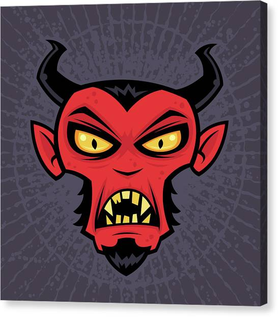 Satan Canvas Print - Mad Devil by John Schwegel