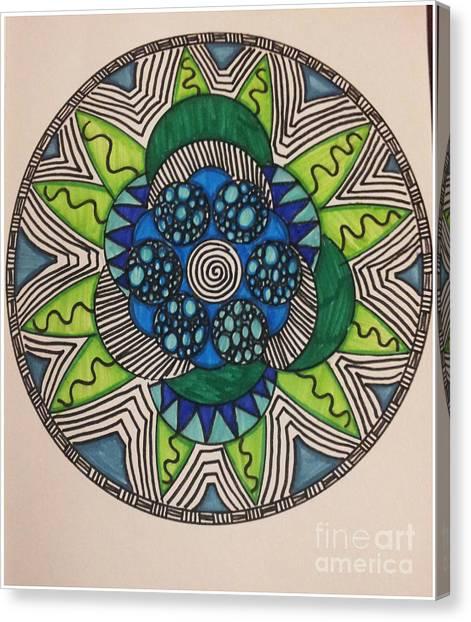 Mad Mandala Canvas Print