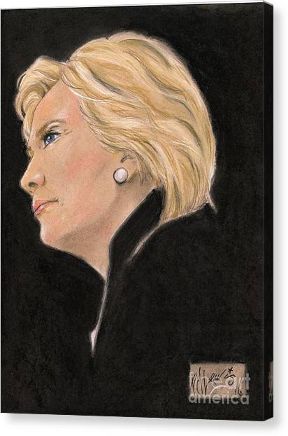 First Lady Canvas Print - Madame President by PJ Lewis