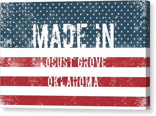 Ok Canvas Print - Made In Locust Grove, Oklahoma by Tinto Designs