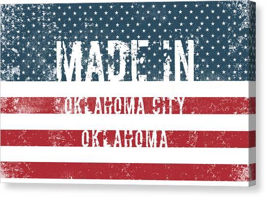 Ok Canvas Print - Made In Oklahoma City, Oklahoma by Tinto Designs