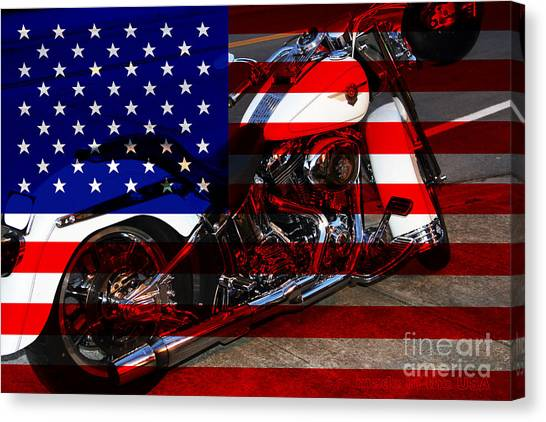 Made In The Usa . Harley-davidson . 7d12757 Canvas Print