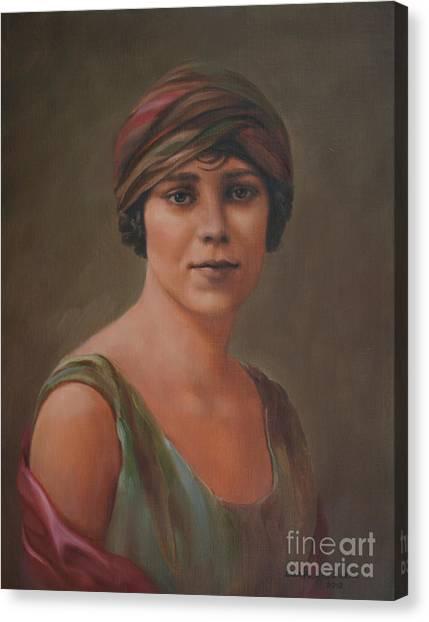 University Of Nebraska Canvas Print - Madeline by Lisa Phillips Owens