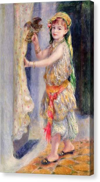 Pierre-auguste Renoir Canvas Print - Mademoiselle Fleury In Algerian Costume by Pierre Auguste Renoir
