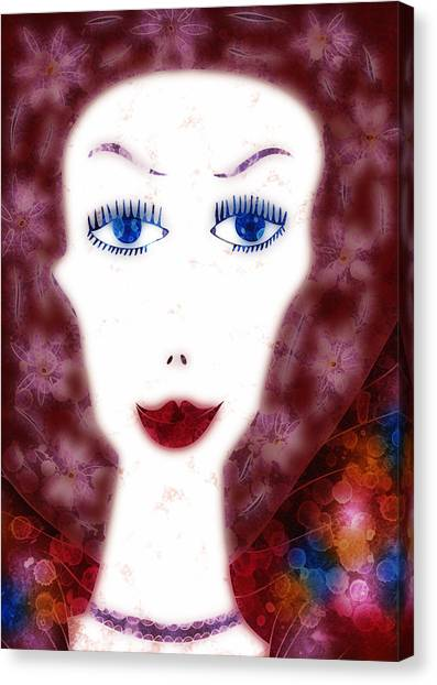 Mademoiselle Canvas Print by Frank Tschakert