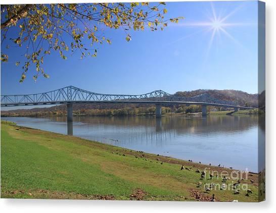 Madison, Indiana Bridge  Canvas Print