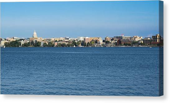 Madison Skyline From Picnic Point Canvas Print