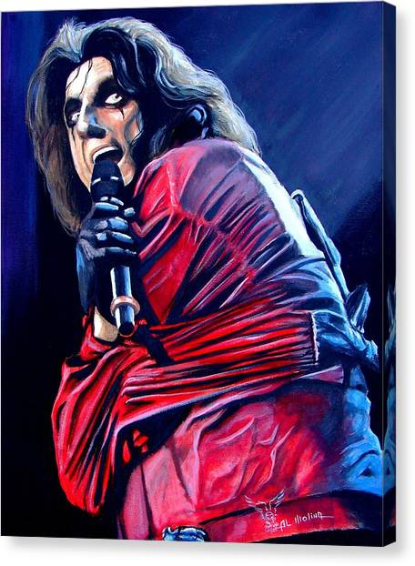 Alice Cooper Canvas Print - Madman Alice II by Al  Molina