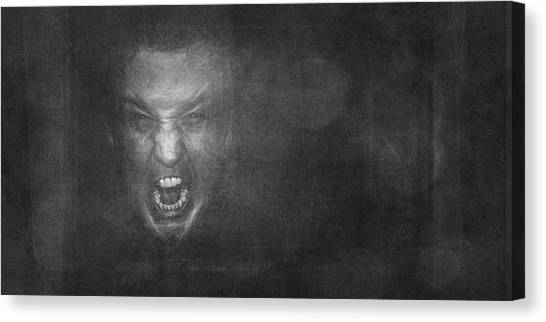 Teeth Canvas Print - Madness by Scott Norris