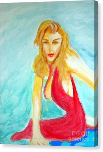 Madona Relaxed Canvas Print