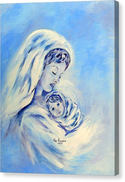 Madonna And Child By May Villeneuve Canvas Print