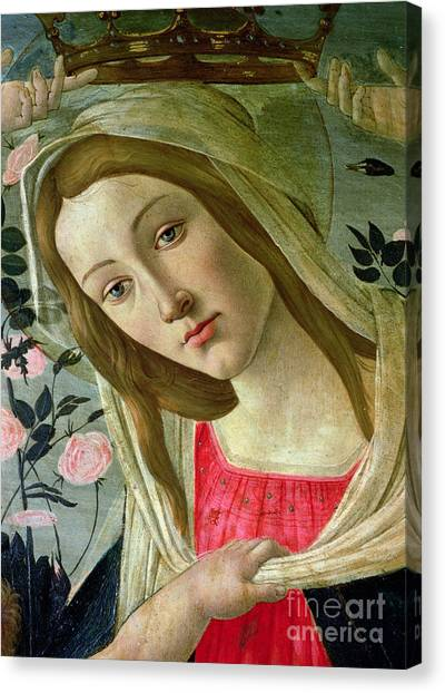 Botticelli Canvas Print - Madonna And Child Crowned By Angels by Sandro Botticelli