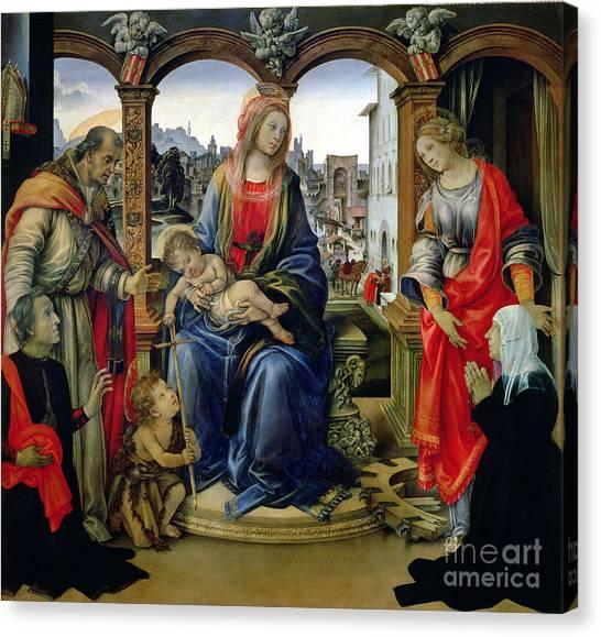 Rosary Canvas Print - Madonna And Child by Filippino Lippi