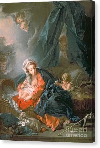 Boucher Canvas Print - Madonna And Child by Francois Boucher