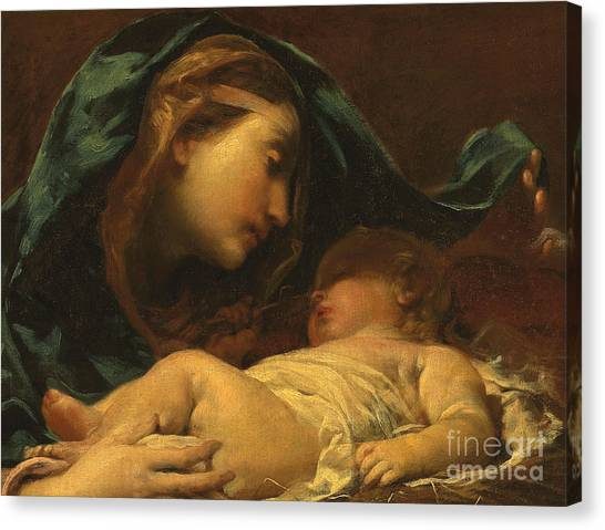 St Mary Canvas Print - Madonna And Child by Giuseppe Maria Crespi