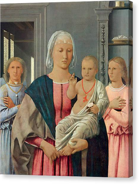 Early Christian Art Canvas Print - Madonna Of Senigallia by Piero della Francesca