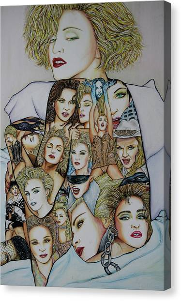 Madonna Est Canvas Print by Joseph Lawrence Vasile