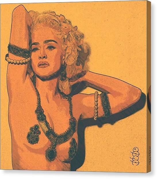 Shakira Canvas Print - Madonna Viii by Nuno Marques