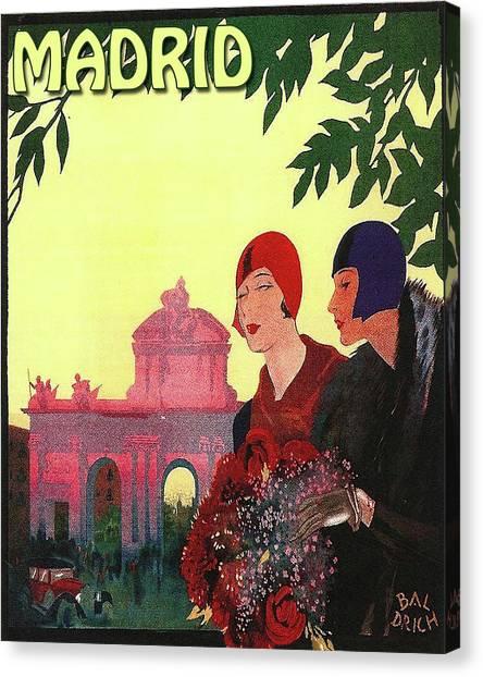 Madrid Canvas Print - Madrid, Spain, Two Ladies by Long Shot