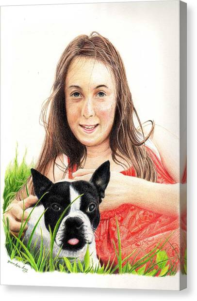 Madyson And Cooper Canvas Print