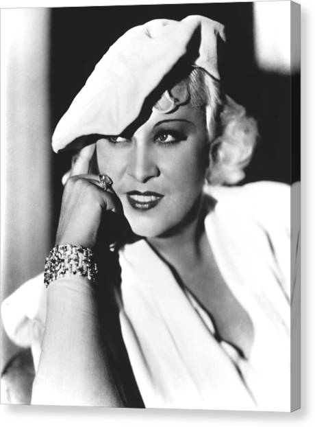 Mae West, Paramount Pictures, Ca. Mid Canvas Print by Everett