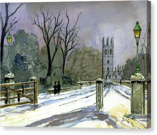 Bachelors Degree Canvas Print - Magdalen Bridge Looking Towards Magdalen College Tower by Mike Lester
