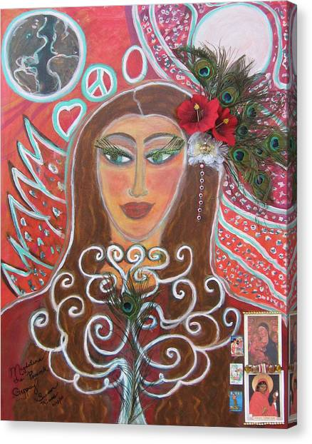 Magdalena The Peacock Gypsy Canvas Print by Susan Risse