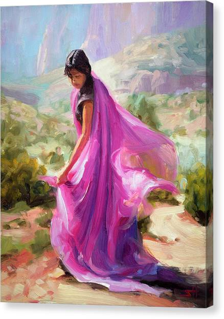 Bush Canvas Print - Magenta In Zion by Steve Henderson
