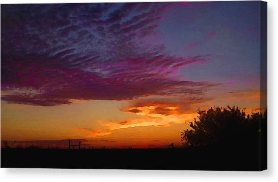 Magenta Morning Sky Canvas Print