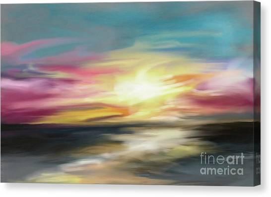 Magenta Sea Canvas Print