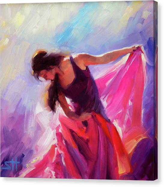 Top Canvas Print - Magenta by Steve Henderson