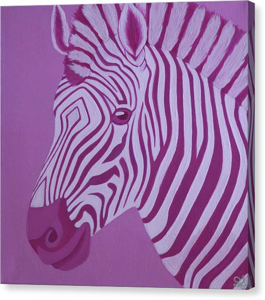 Magenta Zebra Canvas Print
