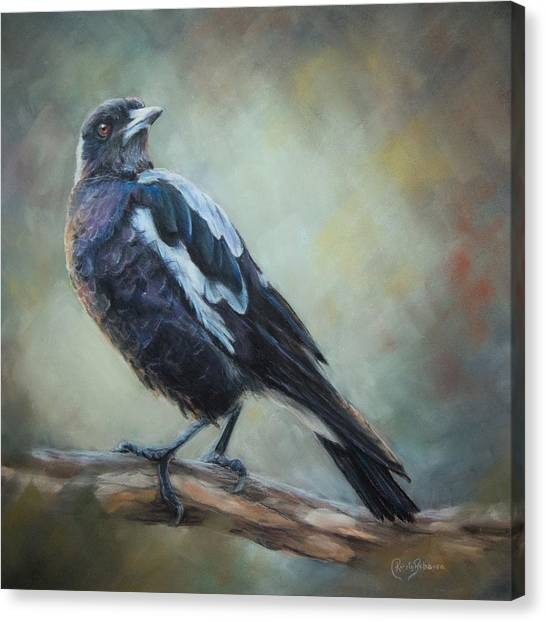 Magpies Canvas Print - Maggie by Kirsty Rebecca