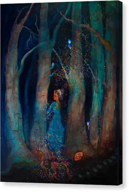 Magic Birch Trees Canvas Print by Patricia Motley