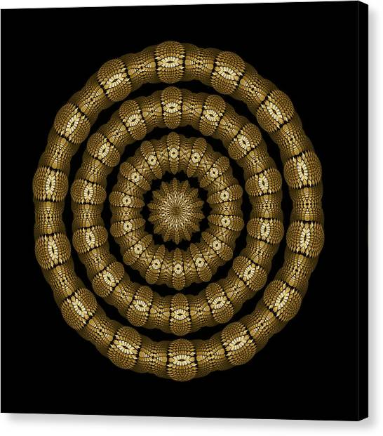 Magic Brass Rings Canvas Print