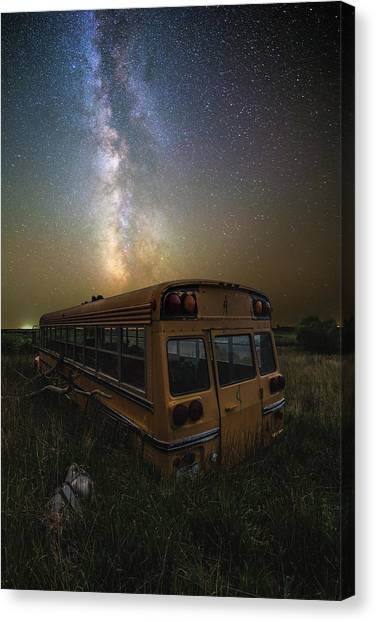 Abandoned School Canvas Print - Magic Bus by Aaron J Groen