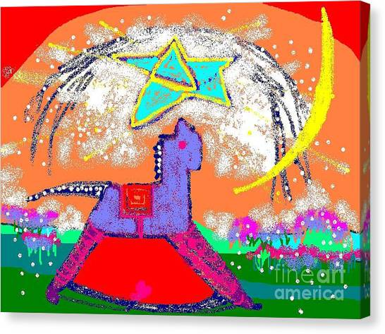 Magic Horse Canvas Print by Beebe  Barksdale-Bruner