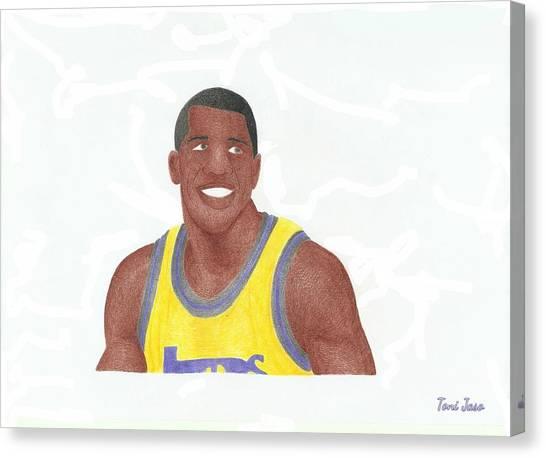 La Lakers Canvas Print - Magic Johnson by Toni Jaso