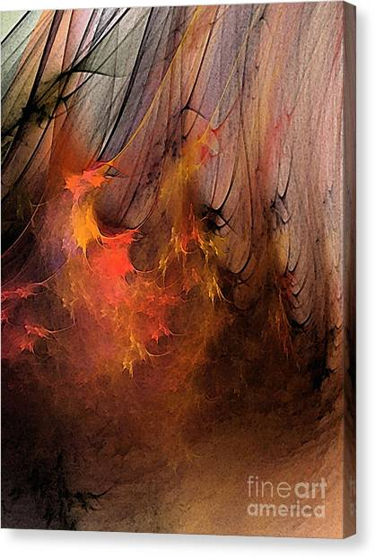 Abstract Expressionism Canvas Print - Magic by Karin Kuhlmann