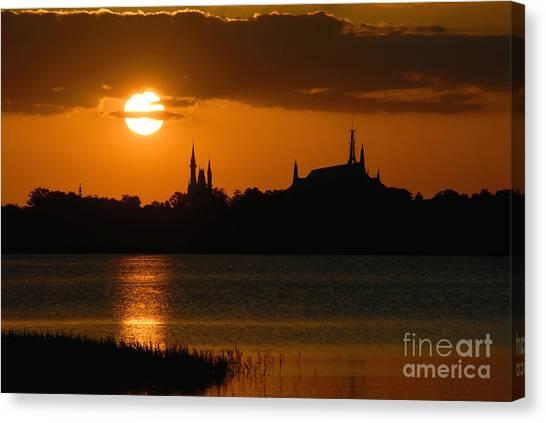 Orlando Magic Canvas Print - Magic Kingdom Sunset by David Lee Thompson