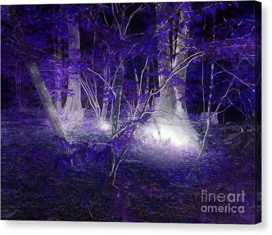 Magic Lives Within The Forest Canvas Print