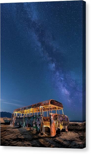Magic Milky Way Bus Canvas Print