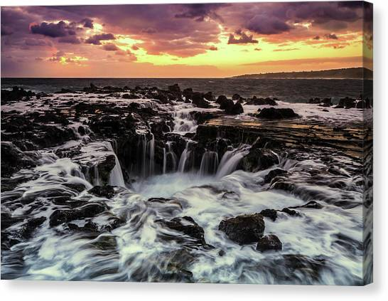 Tides Canvas Print - Magic Of Kauai by Ryan Smith