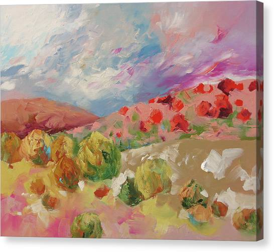 Magic Of Sunrise Canvas Print